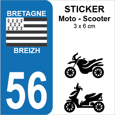 56 morbihan pour moto sticker plaque immatriculation. Black Bedroom Furniture Sets. Home Design Ideas