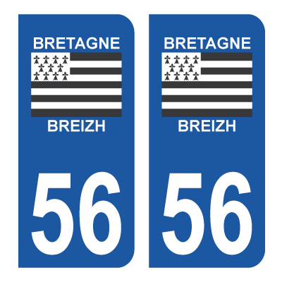 Sticker 56 - Morbihan - Bretagne