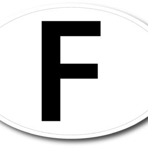 Sticker F ovale 17,5x11,5 cm