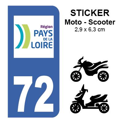 72 sarthe pour moto sticker plaque immatriculation. Black Bedroom Furniture Sets. Home Design Ideas