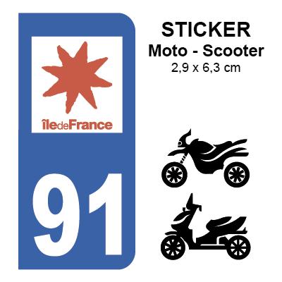 91 essonne pour moto sticker plaque immatriculation. Black Bedroom Furniture Sets. Home Design Ideas