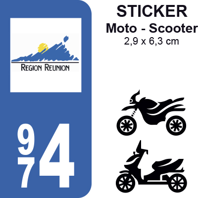 974 r union pour moto sticker plaque immatriculation. Black Bedroom Furniture Sets. Home Design Ideas