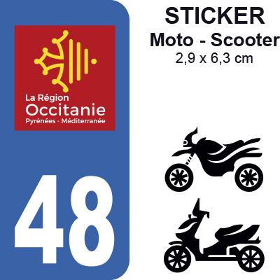 48 loz re moto sticker plaque immatriculation. Black Bedroom Furniture Sets. Home Design Ideas
